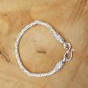 Bracelet snake Byzantin clair .