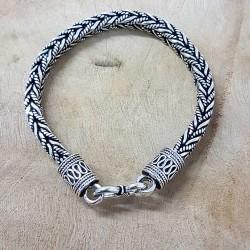 Bracelet snake Tressé carré vieilli