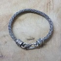 Bracelet snake torsade plat vieilli