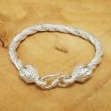 Bracelet snake Bouddha Eternel clair