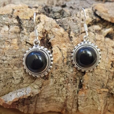 Boucles d ' oreilles Black Onyx .