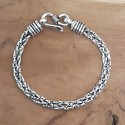 Bracelet snake fine tresse collé vieilli