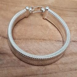 Bracelet snake large plat .