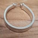 Bracelet plat 14 mm en argent 925.