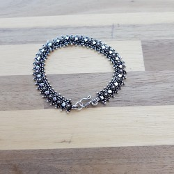 Bracelet snake étoile vieilli