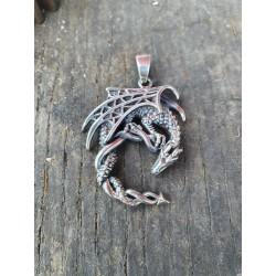 Pendentif dragon en argent 925 ref 107632