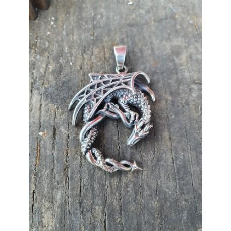 Pendentif dragon en argent 925 ref107632