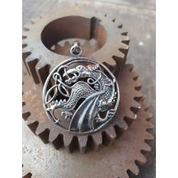 Pendentif dragon en argent 925 ref107627