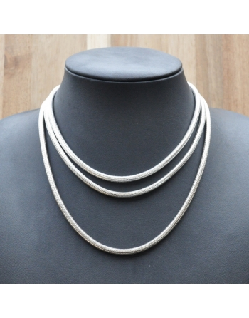 Collier snake rond 5 mm .