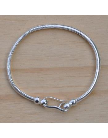 Bracelet snake demi-rond 4 mm