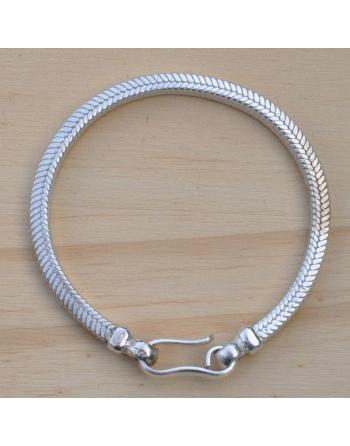 bracelet snake carré de 4 mm