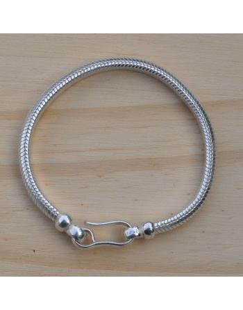 Bracelet snake demi-rond 5 mm